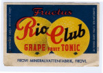 Frövi Bryggeri, Mineralvattenfabriken Fructus Rio Club , Grape fruit Tonic